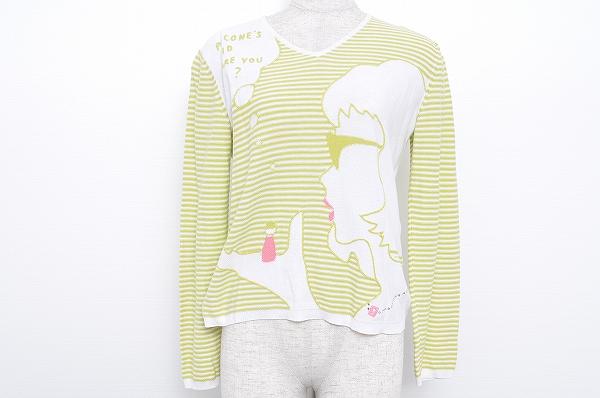 ピッコーネ セーター 38 黄緑 オフホワイト レディース