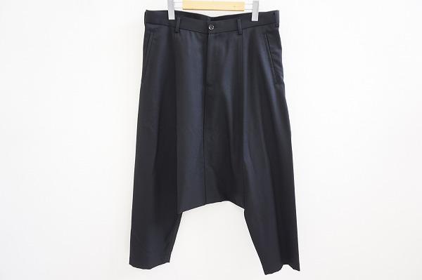 BLACK コムデギャルソン サルエル パンツ L 黒 美品 メンズ