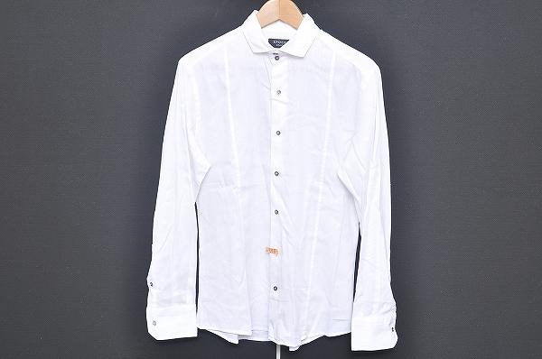 エポカ UOMO 長袖シャツ 46 オフホワイト 麻混 メンズ