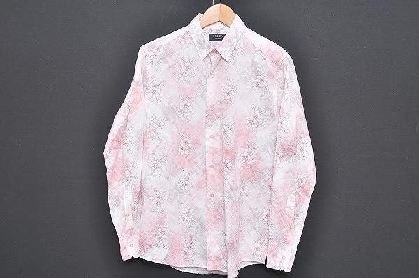 エポカ UOMO シャツ 46 ピンク メンズ