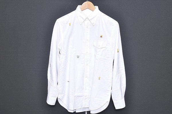 パパス 長袖シャツ M オフホワイト メンズ
