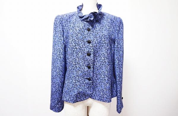ジュンアシダ ジャケット 13 紫 シルク 美品 レディース