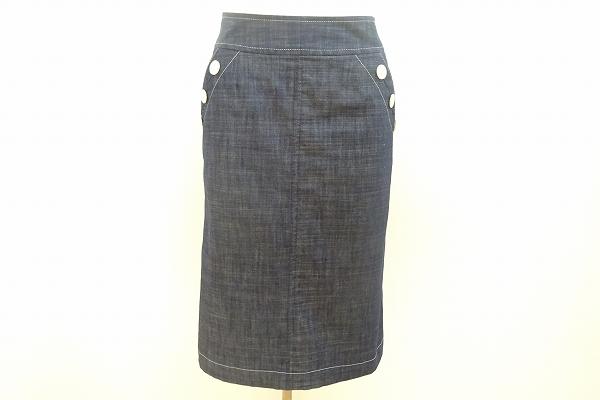 ニューヨーカー デニム スカート 61-89 紺 レディース