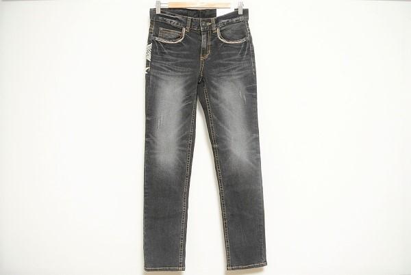 レッドペッパー パンツ デニム 28 ブラック スカル ドクロ 未使用 メンズ