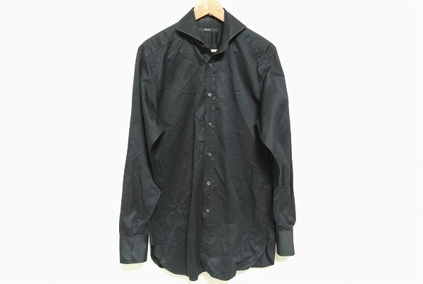 グッチ 長袖シャツ 39  黒 メンズ