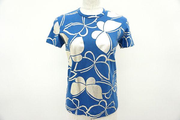 コムデギャルソン Tシャツ 青 シルバー レディース