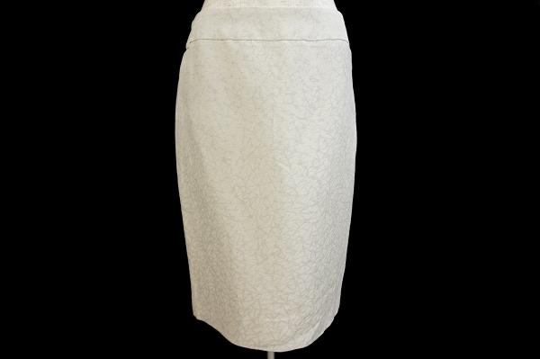 アルマーニコレッツォーニ スカート 38 グレー 麻混 シルク混 レディース