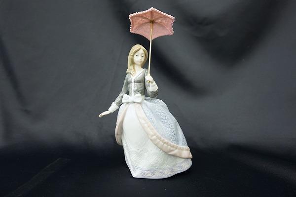 リヤドロ 5211 パラソルの娘 アンジェラ 絶版 置物 オブジェ 小