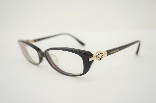 ブルガリ 眼鏡 フレーム 度入り 53□16 135 黒