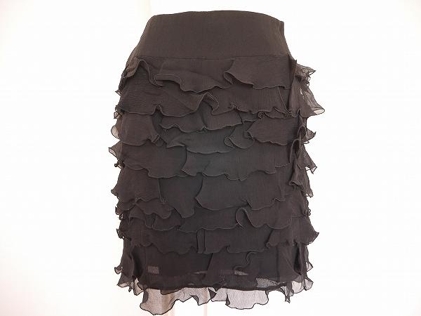 エポカ スカート 38 黒  絹 レディース