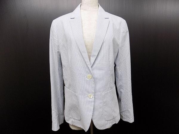 アイシービー iCB ジャケット 42 白 水色 美品 レディース