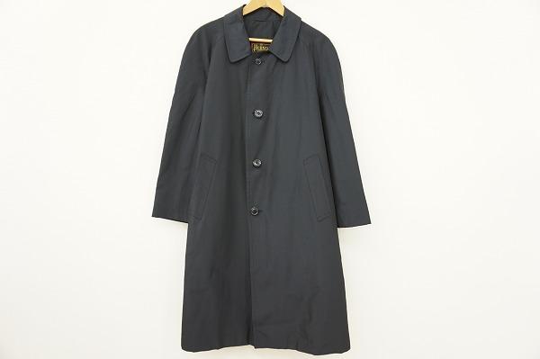 ヘルノ HERNO コート ステンカラー 50 黒 シルク メンズ