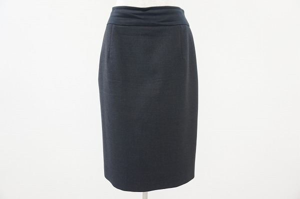 フォクシー FOXEY スカート 40 チャコールグレー レディース