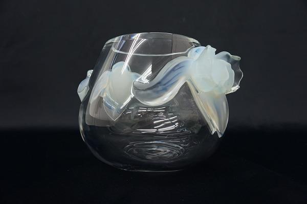 ラリック LALIQUE オルキデ Orchid 蘭 フラワーベース 花瓶