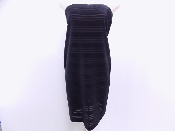 ジュンアシダ ワンピース チューブドレス L 黒 美品 レディース