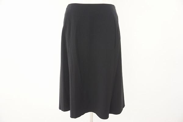 フォクシー FOXEY スカート 38 黒 ウール 美品 レディース