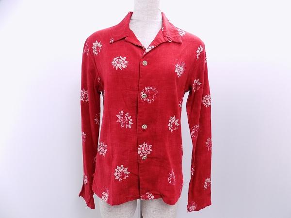 45RPM シャツ ブラウス コットン 長袖 1 赤 レディース