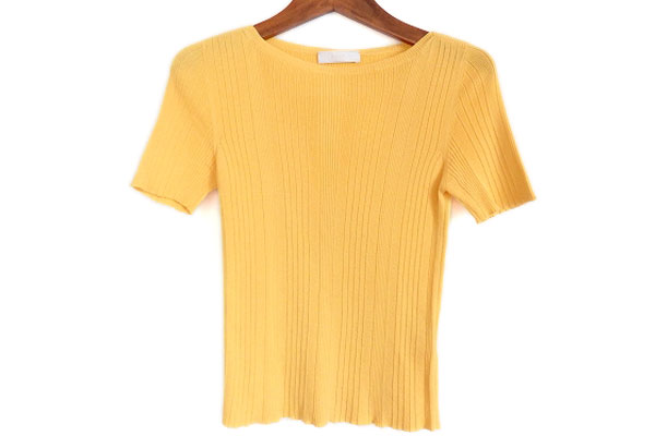 プラダ ニット セーター 40 黄色 レディース
