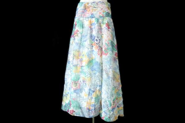 ヒューゴボス スカート 36 花柄 レディース