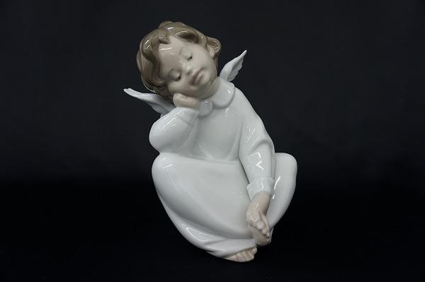 リヤドロ 4961 天使の考え事 なんとかなるよ 置物 オブジェ 陶器 小物