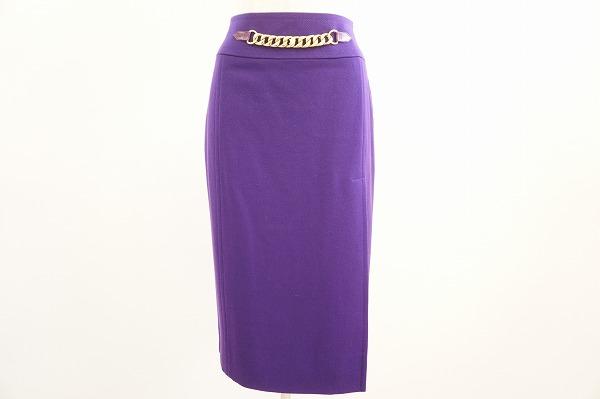 セリーヌ スカート 40 紫 ウール 美品 レディース