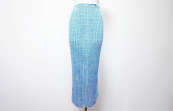 プリーツプリーズイッセイミヤケ スカート 2 青 白 美品 レディース