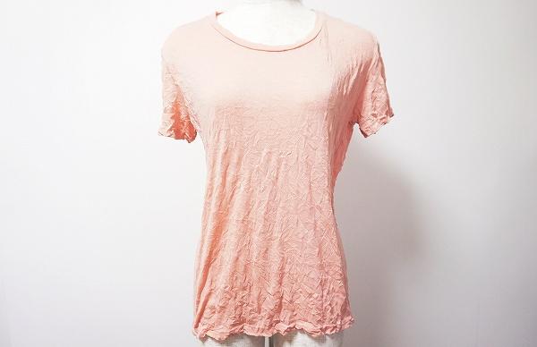 ミーイッセイミヤケ カットソー シワ加工 ピンク 半袖 Tシャツ レディース