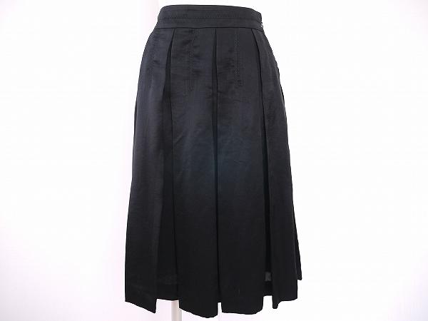 エポカ スカート 38 黒 プリーツ レディース