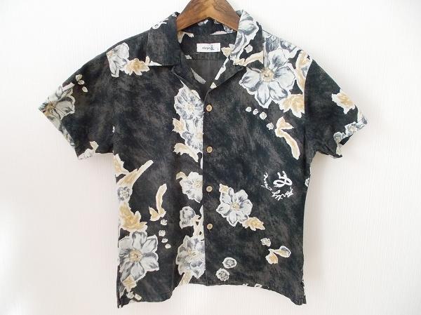 45rpm シャツ 3 黒 半袖 コットン レディース