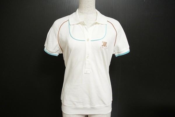 セリーヌ 半袖 ポロシャツ M 白 レディース