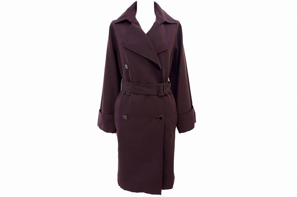 エルメス コート 38 赤紫 レディース
