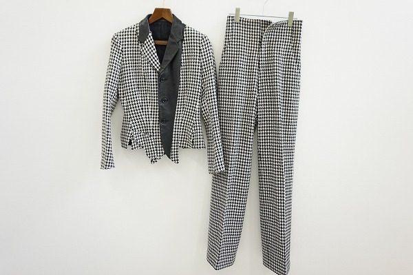 千鳥格子がエレガントなヨウジヤマモトのパンツスーツを買取いたしました