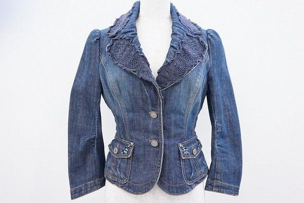 デニム素材でもフェミニンさを演出。エポカのデニムジャケットを買取しました