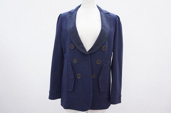 ブルネロクチネリで上質なオフを過ごして欲しい。襟元が個性的なジャケットを買取しました