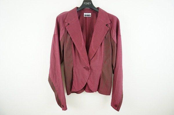 雰囲気自在にコーディネートが楽しめる!イッセイミヤケフェットのジャケットを買取しました。