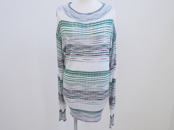 春らしい明るい色味のボーダーで爽やかに。ミッソーニの薄手のセーターを買い取りました