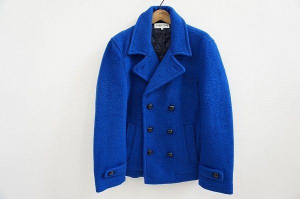 色鮮やかなカラーリングで春先までヘビーローテーション可能。ヴァンキッシュのピーコートを買取しました。
