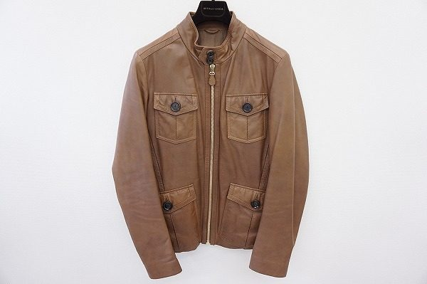 味のあるレザーが大人の男性を演出。ボッテガヴェネタのレザージャケットを買取しました。