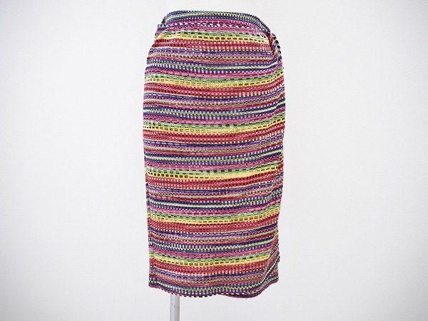タウンにもリゾートにも。ミッソーニのレディースミックスカラーラップ風スカート