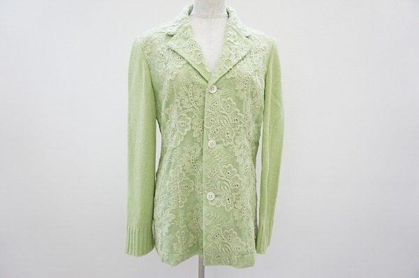 女性らしいモードを嗜むことが出来る。トリココムデギャルソンのニット切り替えしジャケットを買取しました