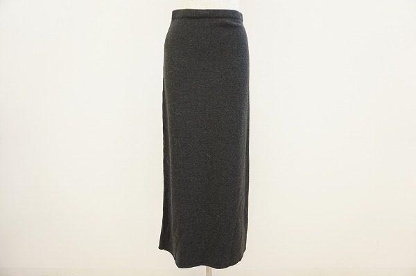 シンプルでスマート。レキップヨシエイナバのロングニットスカートをお売り頂きました