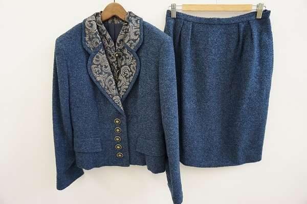買取実例/クリスチャンディオールシルクのスカートスーツ