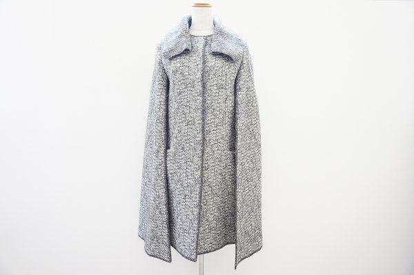 シンプルながらも個性が光る。ミッソーニのグレーのコートを買取しました