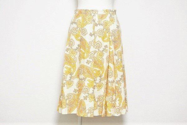 トレンドをおさえた独特の柄が素敵。レキップヨシエイナバのスカートを買取いたしました