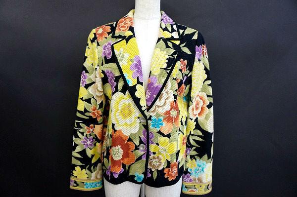 大判の花柄が美しいレオナールのジャケットを買い取りました