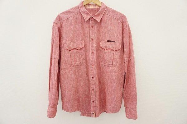 ファッショナブルな赤をラフに纏う!パパスの長袖シャツを出張買取いたしました