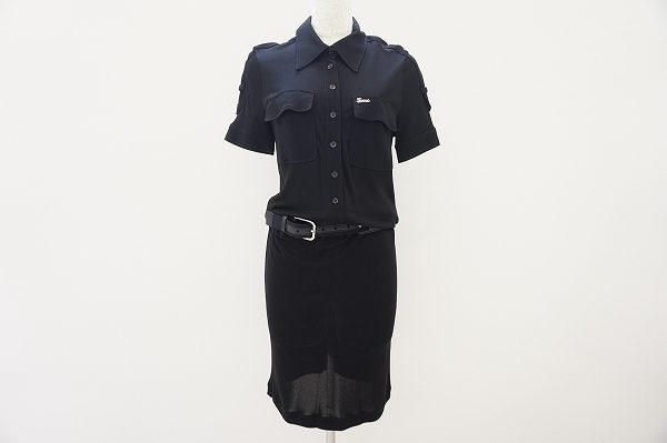 スーツのようなカッチリ感にカジュアルがほどよくプラスされたグッチのワンピースを買取いたしました