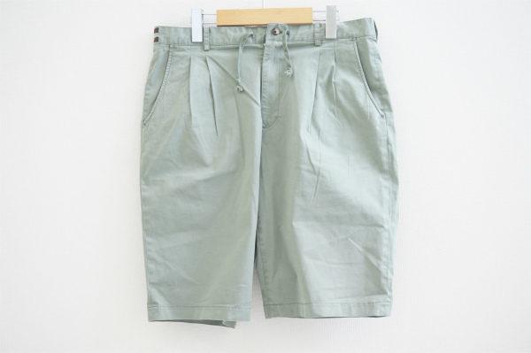 コーデに爽やかさを与える淡いグリーンカラーのパパスのハーフパンツを宅配買取いたしました