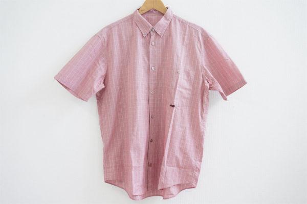 さりげないチェック柄で小洒落たデザイン、パパスの半袖シャツを宅配買取いたしました
