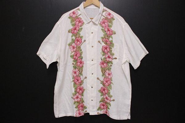 レイに見立てた華やかで夏らしいデザインアロハ、パパスの半袖シャツを宅配買取いたしました